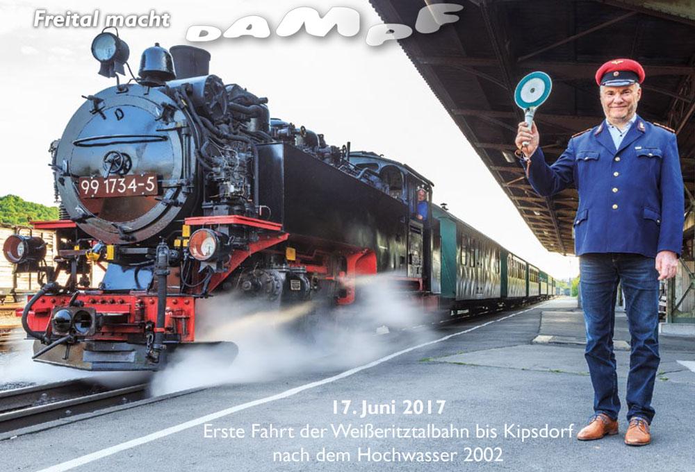 """Postkarte 2 """"Freital macht Dampf"""""""