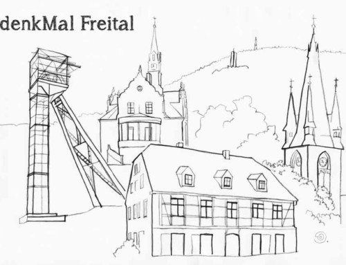 "Postkarte 6 ""denkMal Freital"" Ausmalkarte"