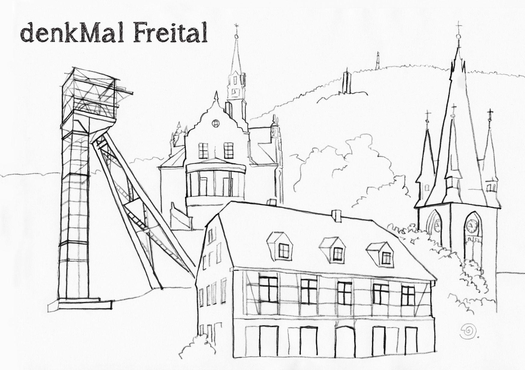 Ausmahlkarte 6 denkMAL Freital