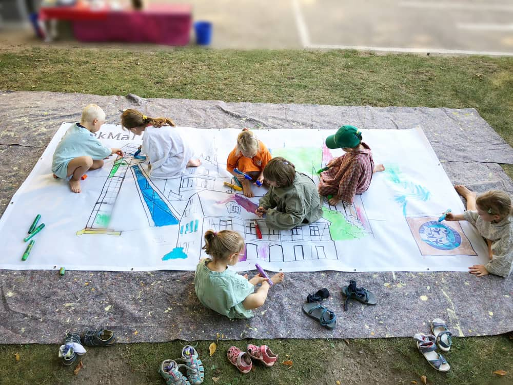 Kinder malen Freital bunt